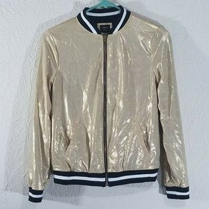 Forever 21 Gold Metallic Girls Stretch Jacket